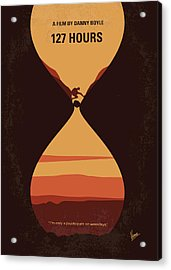 No719 My 127 Hours Minimal Movie Poster Acrylic Print