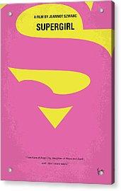 No720 My Supergirl Minimal Movie Poster Acrylic Print by Chungkong Art