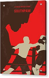 No723 My Southpaw Minimal Movie Poster Acrylic Print