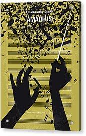 No725 My Amadeus Minimal Movie Poster Acrylic Print by Chungkong Art