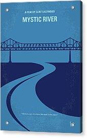 No729 My Mystic River Minimal Movie Poster Acrylic Print