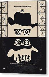 No731 My 8 1 2 Minimal Movie Poster Acrylic Print by Chungkong Art