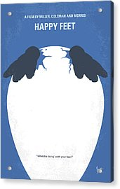 No744 My Happy Feet Minimal Movie Poster Acrylic Print