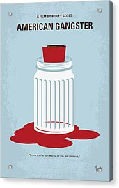 Acrylic Print featuring the digital art No748 My American Gangster Minimal Movie Poster by Chungkong Art