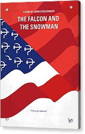 No749 My The Falcon And The Snowman Minimal Movie Poster Acrylic Print by Chungkong Art