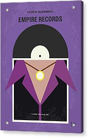 Acrylic Print featuring the digital art No750 My Empire Records Minimal Movie Poster by Chungkong Art