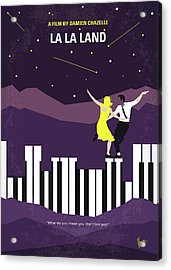 No756 My La La Land Minimal Movie Poster Acrylic Print by Chungkong Art