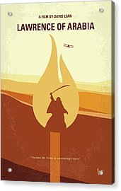 Acrylic Print featuring the digital art No772 My Lawrence Of Arabia Minimal Movie Poster by Chungkong Art