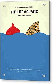 No774 My The Life Aquatic With Steve Zissou Minimal Movie Poster Acrylic Print