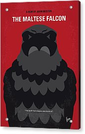 No780 My The Maltese Falcon Minimal Movie Poster Acrylic Print by Chungkong Art
