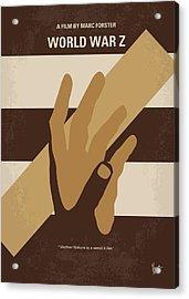 No783 My World War Z Minimal Movie Poster Acrylic Print