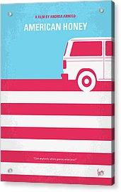 No786 My American Honey Minimal Movie Poster Acrylic Print by Chungkong Art