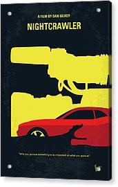 No794 My Nightcrawler Minimal Movie Poster Acrylic Print