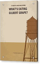 No795 My Whats Eating Gilbert Grape Minimal Movie Poster Acrylic Print by Chungkong Art