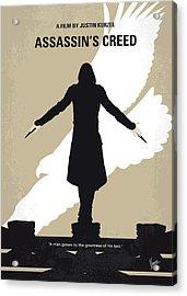 No798 My Assassins Creed Minimal Movie Poster Acrylic Print by Chungkong Art