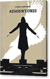 No798 My Assassins Creed Minimal Movie Poster Acrylic Print