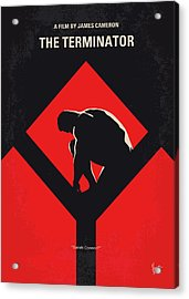 No802-1 My The Terminator 1 Minimal Movie Poster Acrylic Print