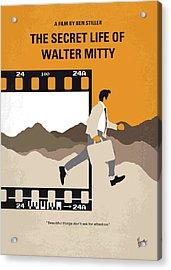 No806 My The Secret Life Of Walter Mitty Minimal Movie Poster Acrylic Print by Chungkong Art