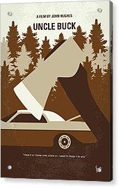 No818 My Uncle Buck Minimal Movie Poster Acrylic Print