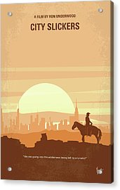 No821 My City Slickers Minimal Movie Poster Acrylic Print