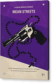 No823 My Mean Streets Minimal Movie Poster Acrylic Print