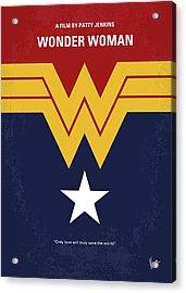 No825 My Wonder Woman Minimal Movie Poster Acrylic Print