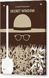 No830 My Secret Window Minimal Movie Poster Acrylic Print