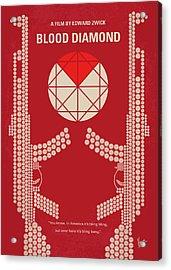 No833 My Blood Diamond Minimal Movie Poster Acrylic Print