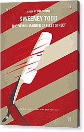 No849 My Sweeney Todd Minimal Movie Poster Acrylic Print