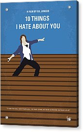 No850 My 10 Things I Hate About You Minimal Movie Poster Acrylic Print