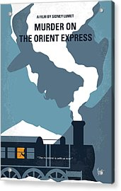 No883 My Murder On The Orient Express Minimal Movie Poster Acrylic Print