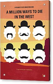No890 My A Million Ways To Die In The West Minimal Movie Poster Acrylic Print