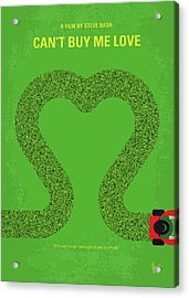 No894 My Cant Buy Me Love Minimal Movie Poster Acrylic Print
