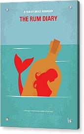 No925 My The Rum Diary Minimal Movie Poster Acrylic Print