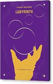 No928 My Labyrinth Minimal Movie Poster Acrylic Print