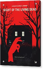 No935 My Night Of The Living Dead Minimal Movie Poster Acrylic Print