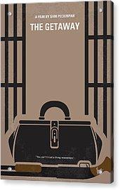 No952 My The Getaway Minimal Movie Poster Acrylic Print