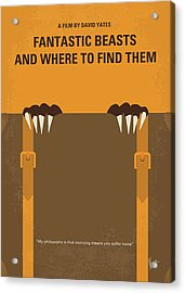 No962 My Fantastic Beasts And Where To Find Them Minimal Movie Poster Acrylic Print