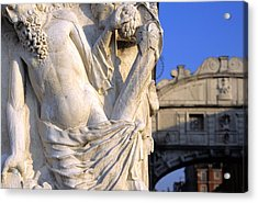 Noah On The Doges Palace In Venice Acrylic Print by Michael Henderson