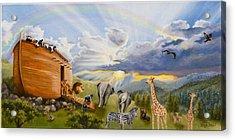 Noah's Ark Acrylic Print by Cheryl Allen