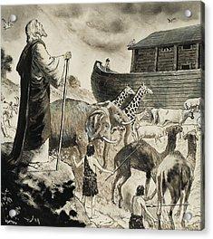 Noah's Ark Acrylic Print by Clive Uptton