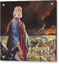 Noah's Ark Acrylic Print by James Edwin McConnell