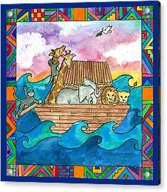 Noah's Ark Acrylic Print by Pamela  Corwin