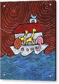 Noahs Ark With Blue Bird Acrylic Print by Wayne Potrafka