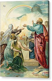 Noah's Sacrifice Acrylic Print by German School