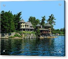 Nobby Island Home Thousand Islands Saint Lawrence Seaway Acrylic Print