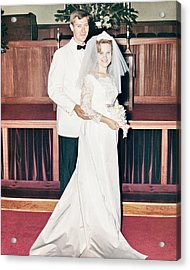 Nobel And Vernice Wedding Formal Portrai Acrylic Print