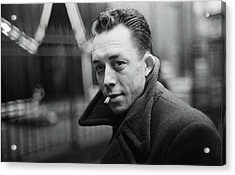 Nobel Prize Winning Writer Albert Camus  Unknown Date-2015           Acrylic Print