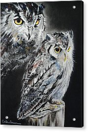 Noble Owl Guardian Of The Afterlife Acrylic Print