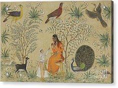 Noble Woman In A Garden Acrylic Print